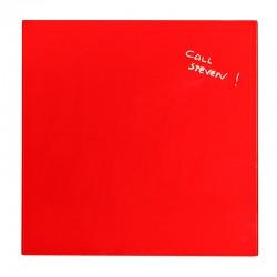Glastavla 48x48cm Magn, Röd