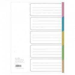 5 Delat Färgreg i Papper, A4