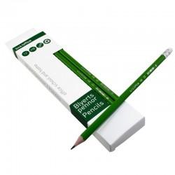 Blyertspenna HB+R 12st, Grön