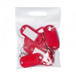 Nyckelbricka PET 10st, Röd