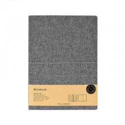 Notebook A4 linjerad, Grå