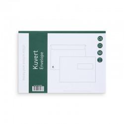 Kuvert C5H2 50st. Vita P&S