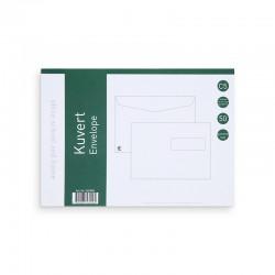 Kuvert C5H2 50st. Vita FH