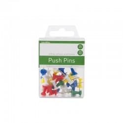 Push Pins 25st, Sort Färger