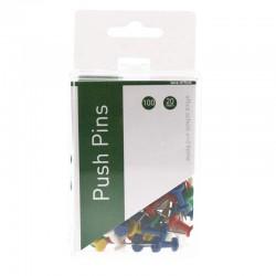Push Pins 100st, Sort Färger