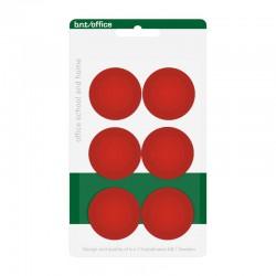 Magneter 30mm 6st, Röd