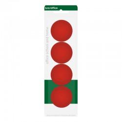 Magneter 40mm 4st, Röd