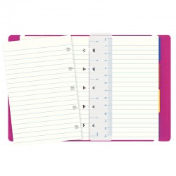 Pocket Notebook Linj. Fuchsia