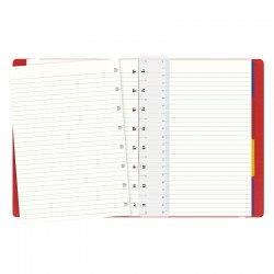 A5 Notebook Linjerad, Red