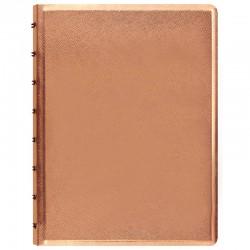 A5 Notebook Saffiano Rose Gold