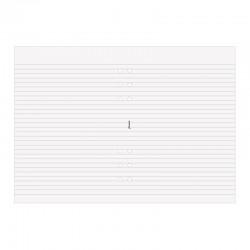 A5 Ant.block linjerat vitt(50)