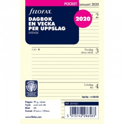 Dagbok Pocket 2020 V/U SE