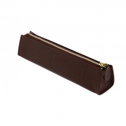 Chester Zipped Pen Case, Brown