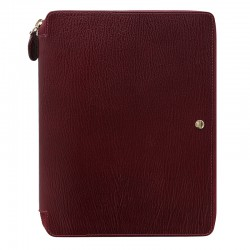 Chester A5 Zip Folio, Red