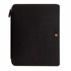 Chester A5 Zip Folio, Brown