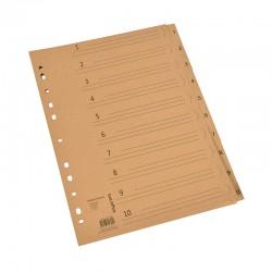 1-10 Register Kraftpapper 150g