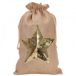 Julklappspåse Stjärna Natur