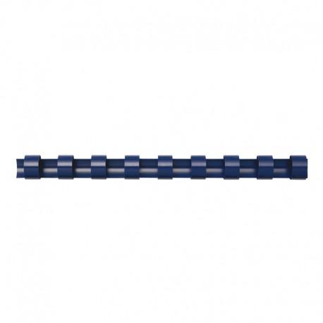 Plastspiral 100st 16mm, Blå