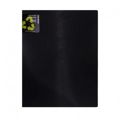 Ringpärm BLACK. A4 70mm, Svart