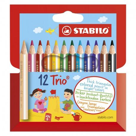 STABILO Trio Thick Short,12/fp
