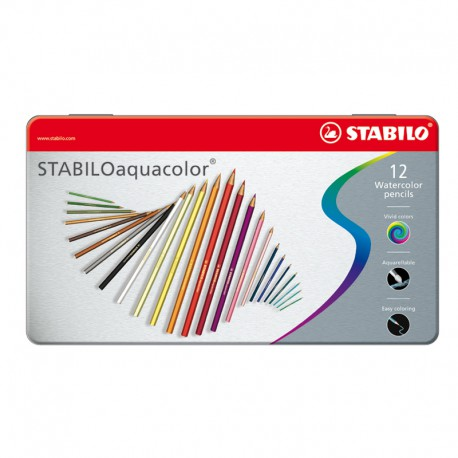 STABILO Aquacolor Etui, 12/fp