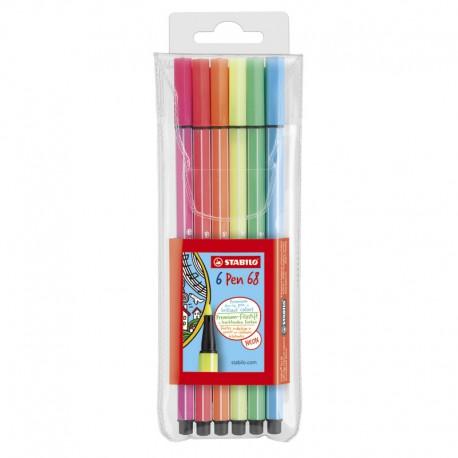 STABILO Pen 68, 6/fp Neon