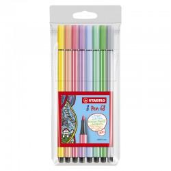 STABILO Pen 68, 8/fp pastell
