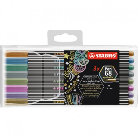 STABILO Pen68 Metallic 8/fp