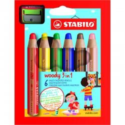 STABILO Woody, 6/Fp +Vässare