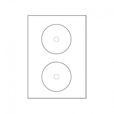 CD etikett. 2 st/ark, 100 pack