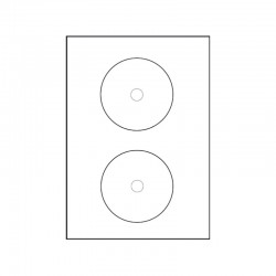CD Etikett 2/ark 25 pack L7676