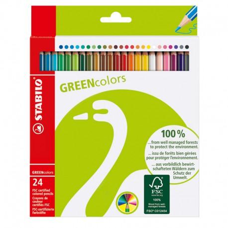 STABILO GreenColors, 24st