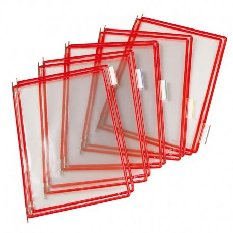 Tarifold Ramar PVC A4x10, Röd