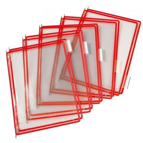 Tarifold Ramar PP A4x10, Röd