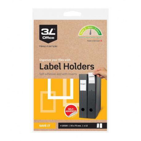 3L Etiketthåll. 35x75mm,12st