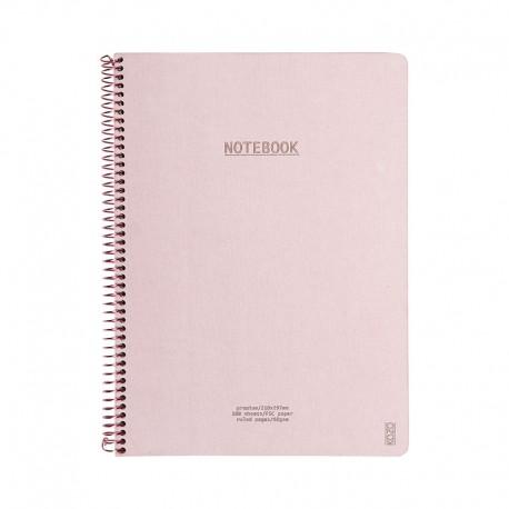 KOZO Notebook A4 Prem, D.Pink