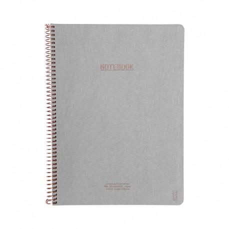 KOZO Notebook A4 Prem, Grey