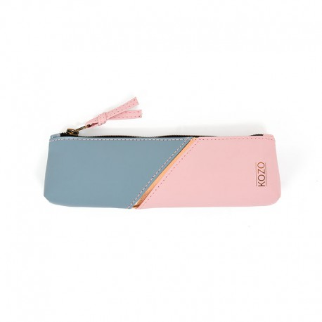 KOZO Pencil Case, Blue/Pink
