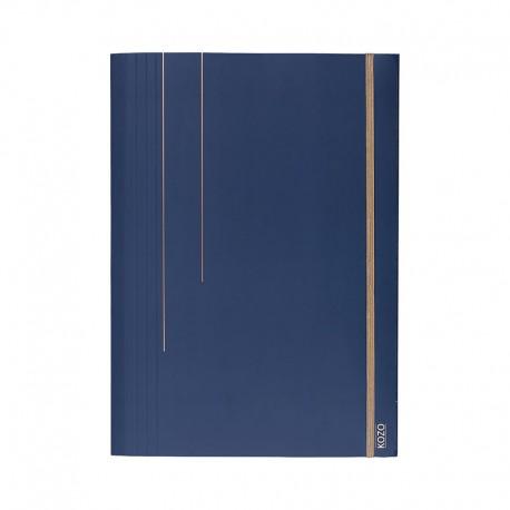 KOZO 3 Flap Folder A4, Navy