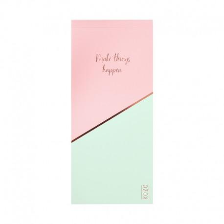 KOZO To Do list Pink/Green