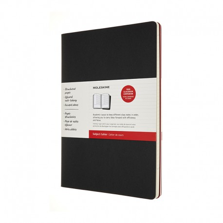 Cahier Subject A4, Black/ Red