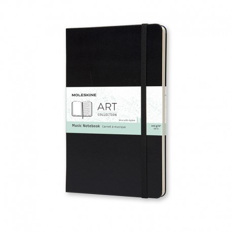 Art, Music Notebook, L, Black
