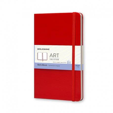 Art, Sketch Book, L, Red