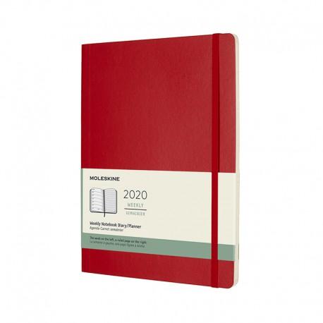 Soft 12M, Week Note, XL, Red